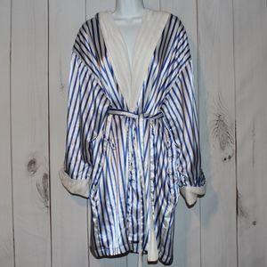 Victoria's Secret Robe Blue Stripes M/L